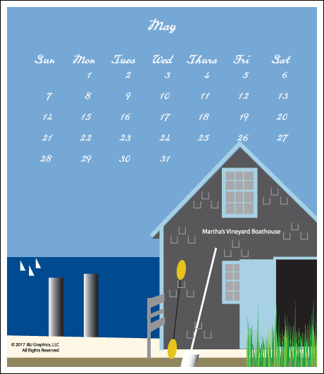 Martha's Vineyard Jewel Case Calendar By J & J Graphics