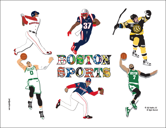 Boston Sports Posters by J & J Graphics